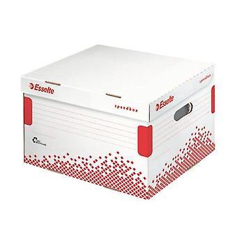 Esselte 3 x 100 mm cutie de depozitare și transport speedbox, ambalaj mediu alb de 1