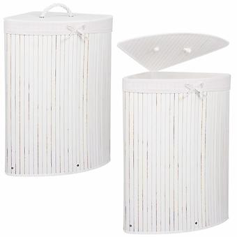 Bambus vasketøjskurv 73L