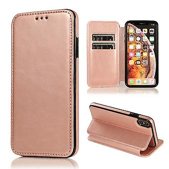 H-basics phone case for Apple iPhone XS MAX case cover – magnetic clasp, stand function and card compartment