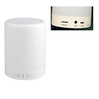 מנורת לילה ניידת עם נורית לילה אלחוטית עם בקרת מגע של רמקול Bluetooth