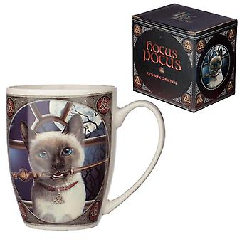 Lisa parker porcelain mug - hocus pocus cat design