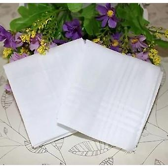 Pure White Handkerchiefs 100% Cotton (white)