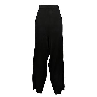 Antthony mujeres's más pantalones suéter punto pull-on negro 716-485