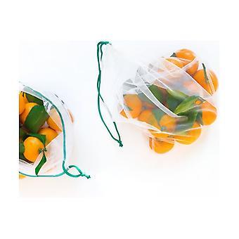 Set of 4 Mesh Bags 30x40 cm 4 units