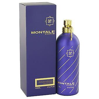 Montale Aoud samt Eau De Parfum Spray von Montale 3,3 oz Eau De Parfum Spray