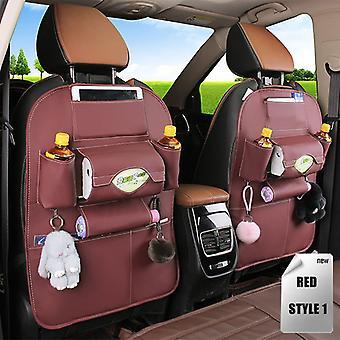 Pu Leather Pad Bag Siège d'auto Back Organizer Foldable Travel Storage Bag Sac de rangement pliable siège d'auto