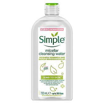 730ml d'eau nettoyante micellar hydratante simple pour la peau sensible