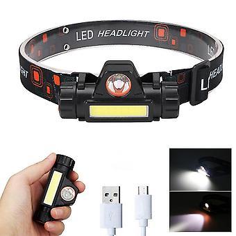 Portable Mini Flashlight Q5+cob Led Headlamp