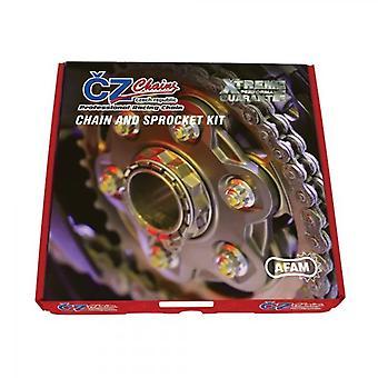 CZ Standard Chain and Sprocket Kit passar Kawasaki ZX600P7/8F/R9F ZX6R 07-16