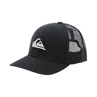 Quiksilver Men's Snapback Trucker Cap~ Grounder black