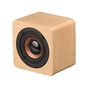 Q1 Mini draagbare houten Bluetooth-luidspreker