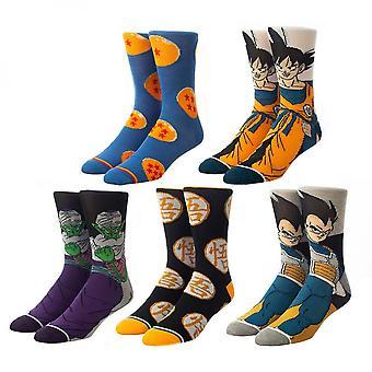 Dragon Ball Z 5-Pair Pack of Crew Socks