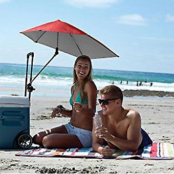 Spf 50+ Adjustable Umbrella For Beach Chair Fishing With Universal Clamp