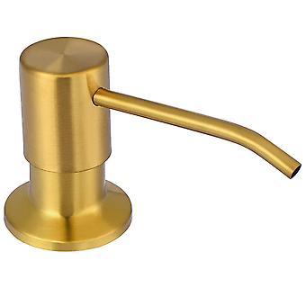 Distributeur de savon pour évier de cuisine, tête de pompe en acier inoxydable de qualité supérieure.