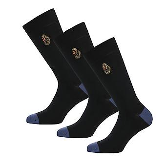 Men's Luke 1977 Classic James 3 Pack Socks in Black