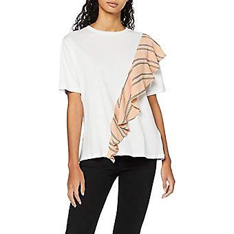 Amazon brand - find. Women's Oversize Crew neck T-Shirt, White, 44, Label: M