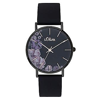 s.Oliver Analog Watch Quartz Woman with Silicone Strap SO-3708-PQ