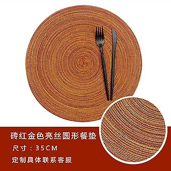 Dining table mat cotton yarn western-style place round mats
