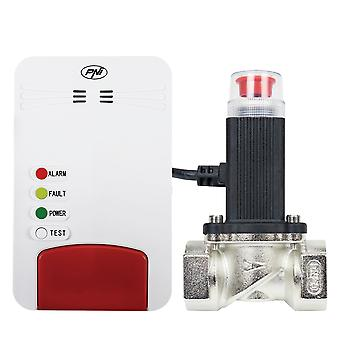 Smart gas sensor kit and PNI Safe House Smart Gas 300 WiFi solenoid valve with sound alert, Tuya Smart mobile application, integration in smart scenarios and automation with other compatible products