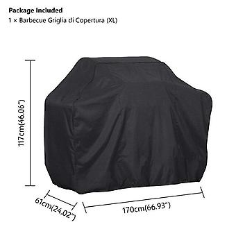 (170*61*117cm)Outdoor Black Waterproof BBQ Cover Weber Heavy Duty Grill Cover Protective