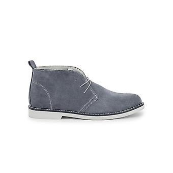 Duca di Morrone - Shoes - Lace-up shoes - 233D CAMOSCIO JEANS - Men - Silver - EU 43