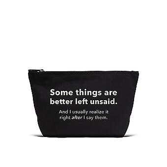 Los Angeles Trading Co. 'Better Left Unsaid...' Designer Black Pouch