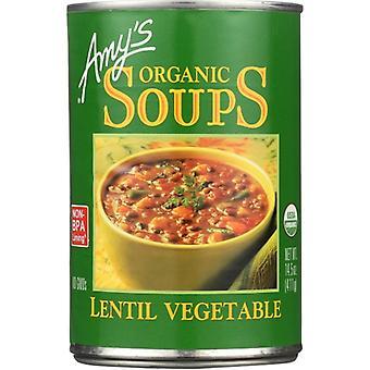 Amys Soup Lentil Vegetable Gf, Case of 12 X 14.5 Oz