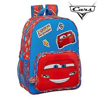 Child bag Cars Mc Queen Blue Red (33 cm)