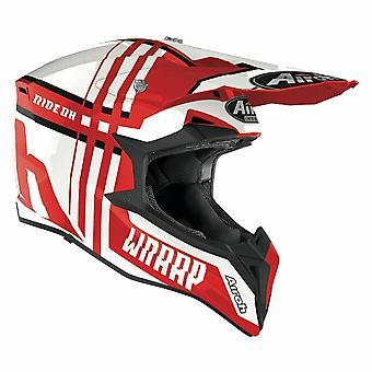 Airoh Wraap Broken Motocross & ATV Helmet Red/Gloss