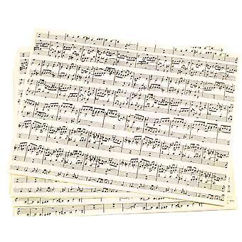 10 Notes de musique Imprimées A4 Feuilles de papier Kraft | Packs papier