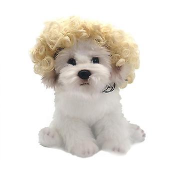 مضحك الحيوانات الأليفة الباروكات القط الكلب Cospaly الدعائم شعر الحيوانات الأليفة لوازم الحزب زي