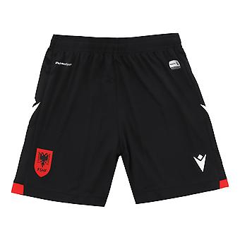 2021-2022 Albanien Home Shorts (Svart)