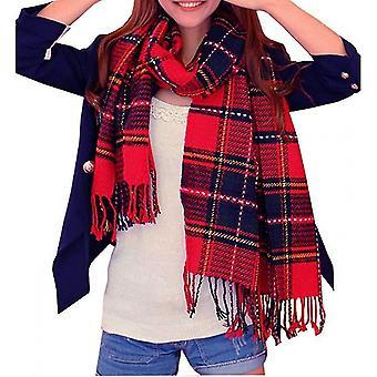 Winter Long Scarf Warm Wrap Wool Women's Spinning Fringed Shawl(ASF07)
