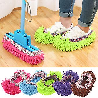Multifunction Floor Dust Cleaning Slippers Shoes Lazy Mopping Shoes Home Floor Cleaning Micro Fiber Cleaning Shoes