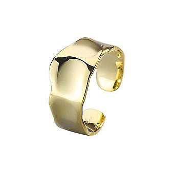 3PCS זהב רחב חלק טבעת אצבע לנשים זוג תכשיטים אישיות