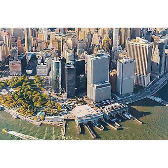 Tapetmaleri flyfoto av nedre Manhattan Nyc