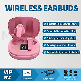 Bluetooth Wireless Earbuds, Votomy Bluetooth Headphones In Ear With Noise Cancellation & Deep Bass, Led Display, Touch Control, Ipx7 Waterproof, Stere