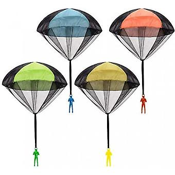 4pcs Parachute Toy Tangle Free Throwing Toy Parachute Children's Flying Toys