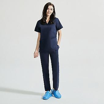 Nők Rövid ujjú Szépség Egységes V-nyakú Scrubs Tops + nadrág Spa Uniform