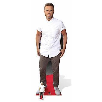 Gary Barlow White Shirt Lifesize Cardboard Cutout / Standee / Stand Up
