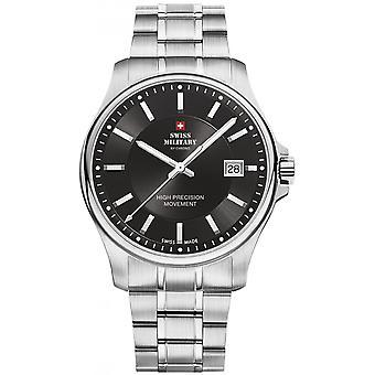 Reloj suizo Military By Chrono Silver Stainless Steel SM30200.01 para hombre