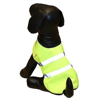 Dog apparel petgear hi vis jacket yellow 30cm 12''