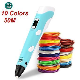 Diy 3D-Stift 3D-Druck Stift Drucker Stift Graffiti 3D-Zeichnung Stift Stift Pla Filament für Kinder Kind