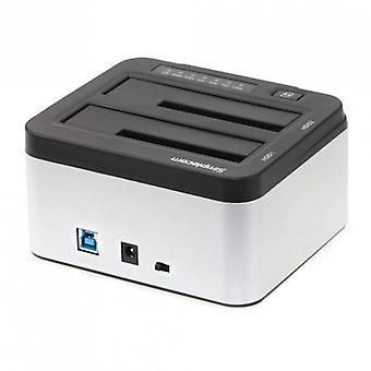 Simplecom Sd322 Dual Bay Usb 3 alumiininen telakointiasema