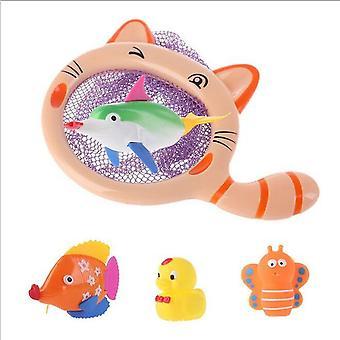 बेबी शॉवर खिलौने, शॉवर स्प्रिंकलर मछली पकड़ने के जाल बच्चों के बाथटब खिलौने बच्चों के सर्वश्रेष्ठ उपहार