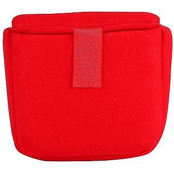 Kamera tok táska betét ütésálló párnázott partíció védőtáska utazó fényképelő kiegészítő, piros