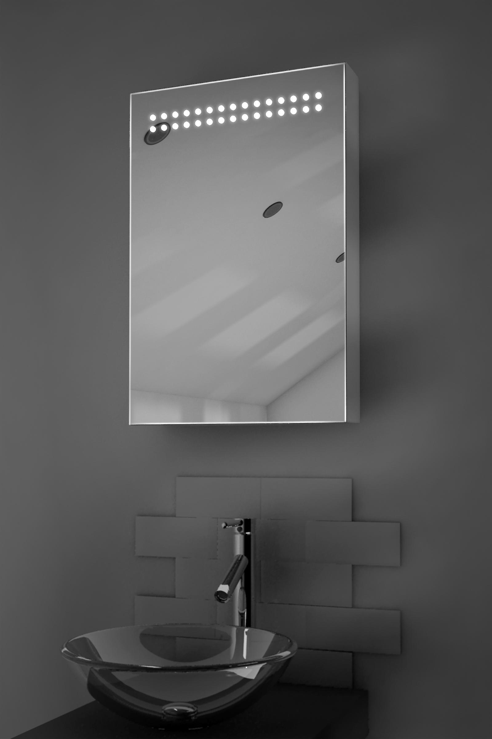 Jewel LED Illuminated Bathroom Cabinet With Sensor & Shaver k255