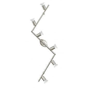 Eglo BUZZ 6 Bulb Spotlight With Adjustable Spot Head And LED Bulbs