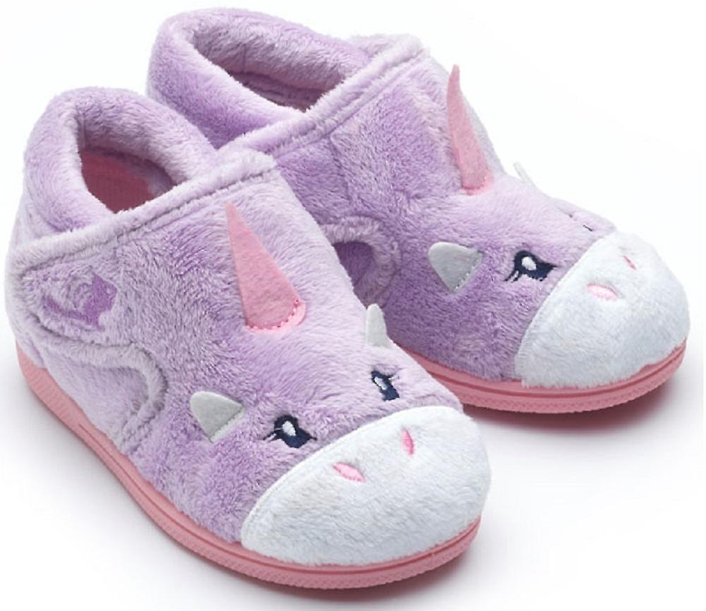 chipmunks girls unicorn slippers lilac fruugo. Black Bedroom Furniture Sets. Home Design Ideas