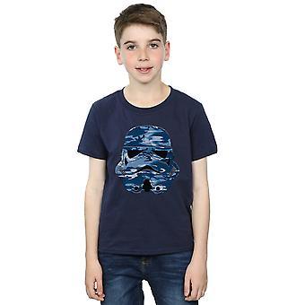 Star Wars Stormtrooper comando de meninos da meia-noite camiseta Camo